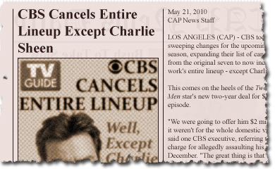 CBS Cancels Entire Lineup Except Charlie Sheen