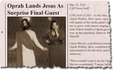 Oprah Lands Jesus As Surprise Final Guest